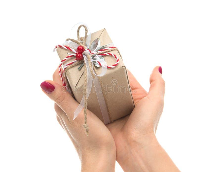 För hantverkvalentin för tappning handgjord gi för gåva för födelsedag för dag lantlig fotografering för bildbyråer