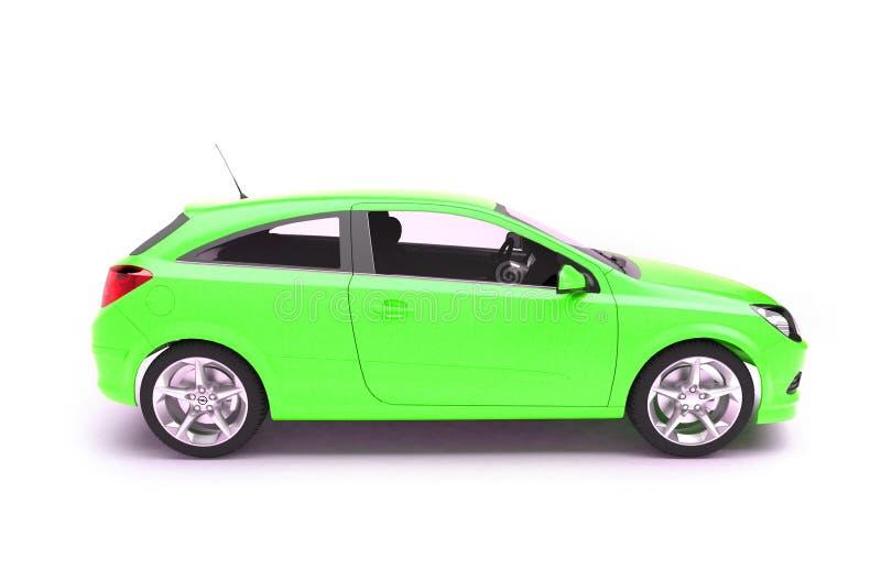 för hatchbacksida för bil grön sikt royaltyfri illustrationer