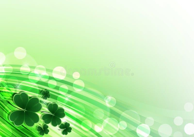 För helgonPatricks för vektor lycklig bakgrund dag med växt av släktet Trifolium royaltyfri illustrationer