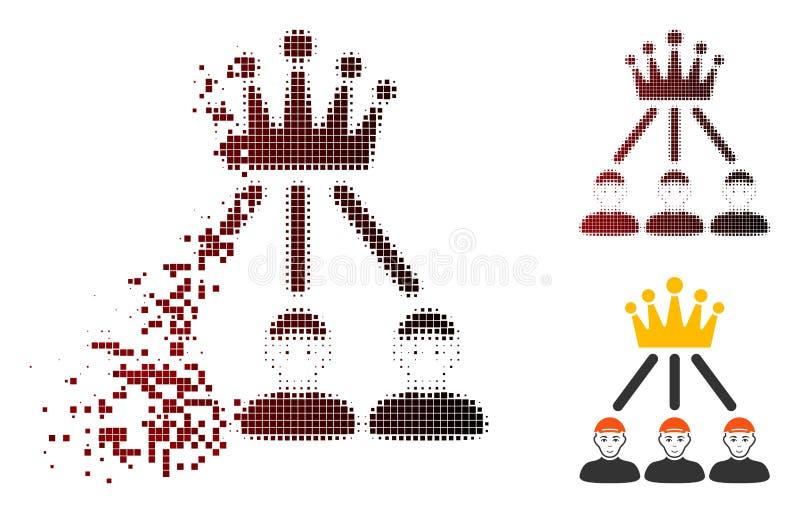 För hierarkimän för rörande PIXEL rastrerad symbol royaltyfri illustrationer