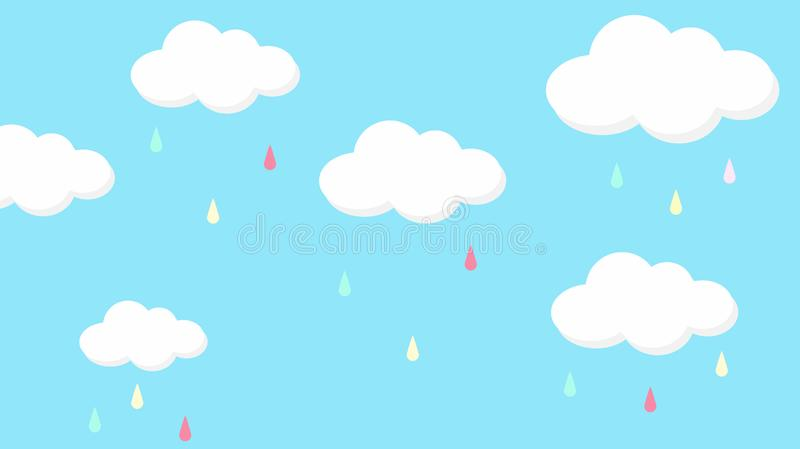 För himmelregnbåge för abstrakt kawaii färgrik bakgrund Pastellfärgat komiskt diagram för mjuk lutning Begrepp för bröllopkortdes royaltyfri foto