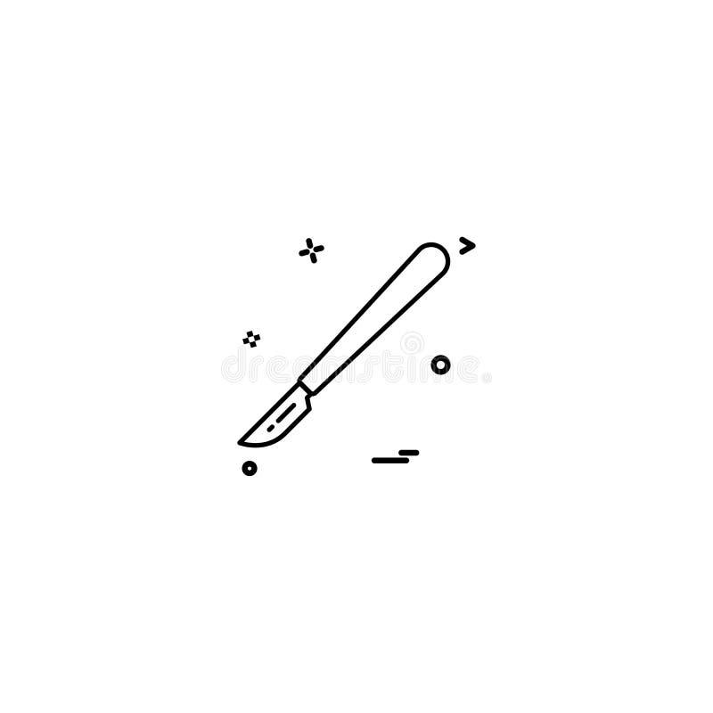 För hjälpmedelsymbol för skärare vård- medicinsk medicinsk desige för vektor royaltyfri illustrationer