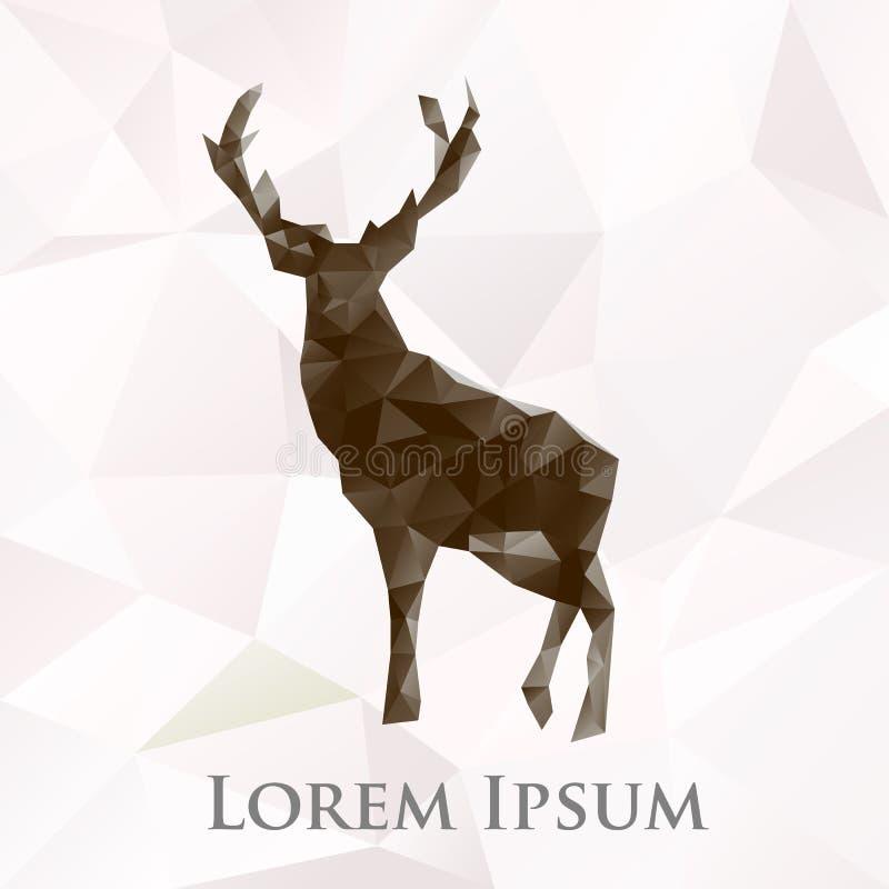 För hjortdjur för vektor polygonal symbol royaltyfri illustrationer