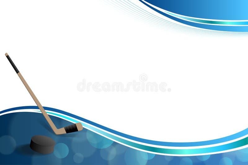 För hockeyblått för bakgrund abstrakt illustration för ram för puck för is royaltyfri illustrationer