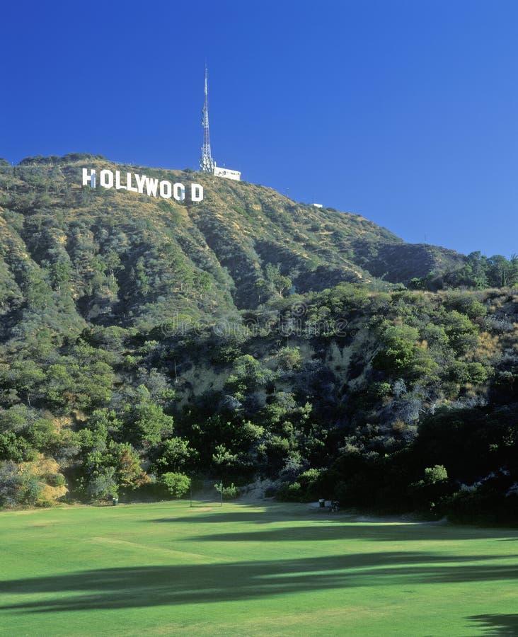för Hollywood för ï¿ ½ tecken för ½ för ¿ ï på Hollywoodet Hills, Los Angeles, Kalifornien royaltyfria foton