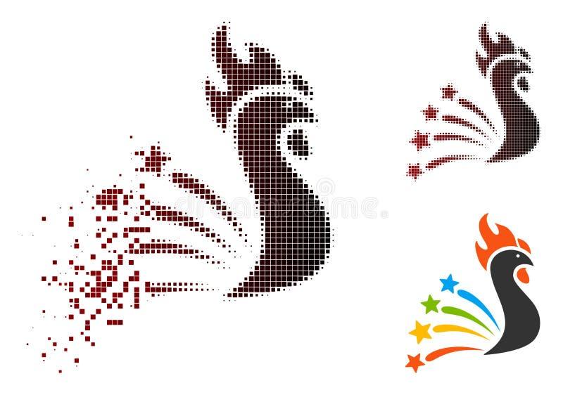 För honnörtupp för splittrat PIXEL rastrerad symbol royaltyfri illustrationer
