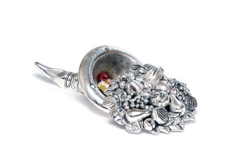 för horn silver alldeles royaltyfria bilder