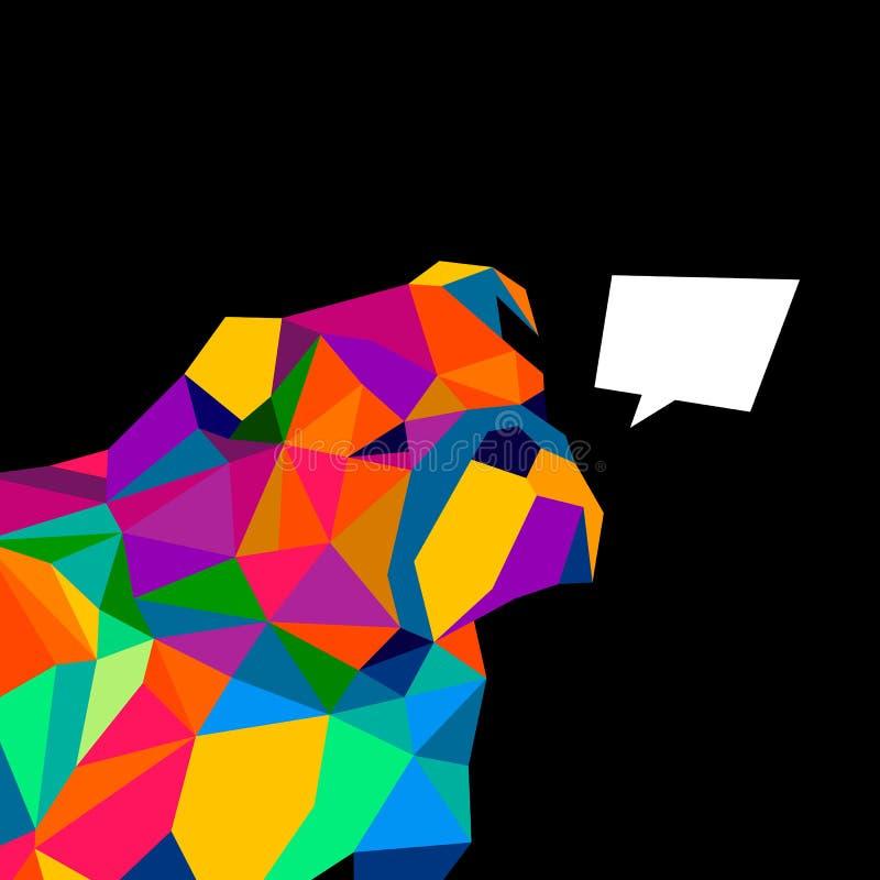 För hundavel för bulldogg engelsk illustration för stående stock illustrationer