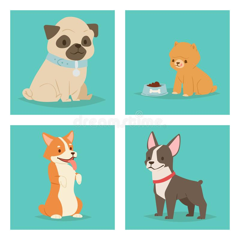 För hundkapplöpningtecken för valp gullig spela illustration för vektor för avel för vovve rolig fullblods- komisk lycklig däggdj royaltyfri illustrationer