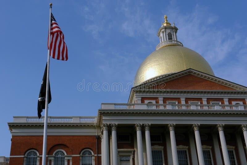 för husmia för amerikanska flaggan främre tillstånd för pow fotografering för bildbyråer