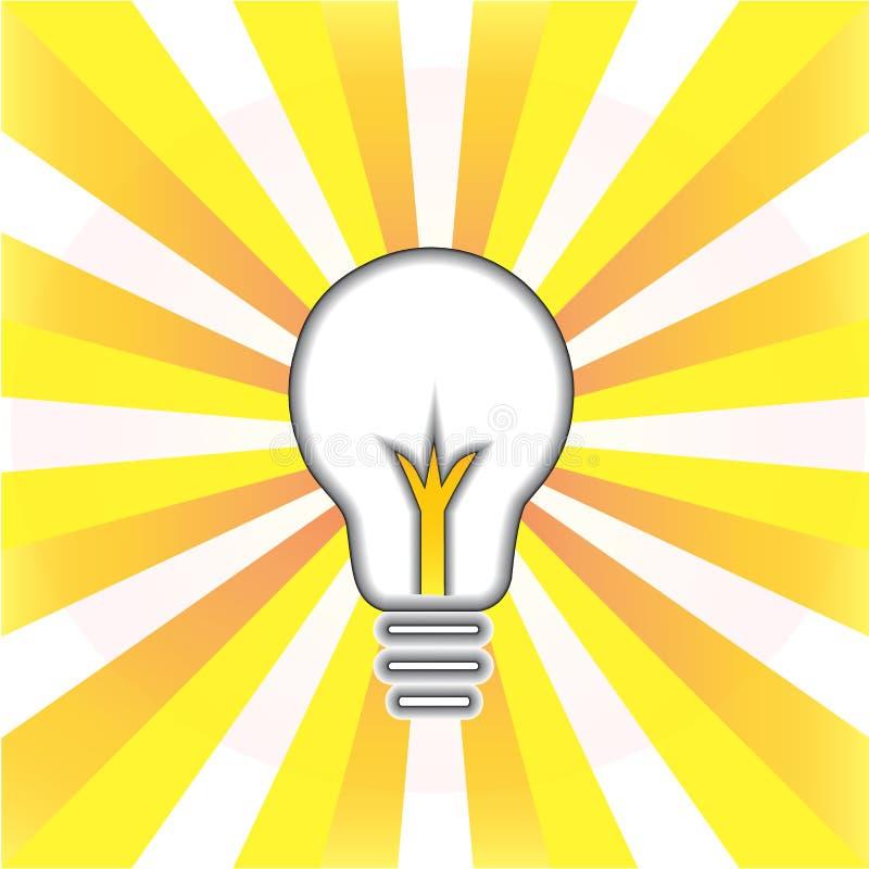 För idésymbol för ljus kula idérik illustration för vektor för logo royaltyfri illustrationer