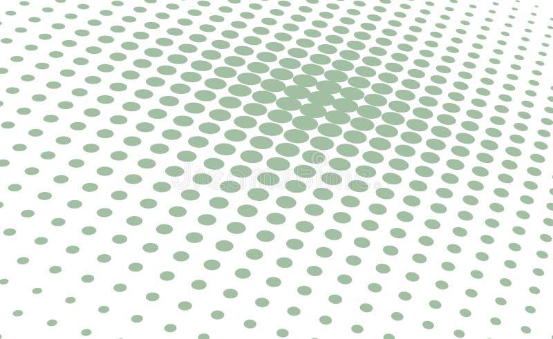 för illustrationlogo för bakgrund rastrerad vektor för text för avstånd Grön prickbakgrund stock illustrationer