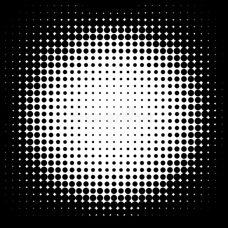 för illustrationlogo för bakgrund rastrerad vektor för text för avstånd Halvtonprickram abstrakt vektorillustration stock illustrationer