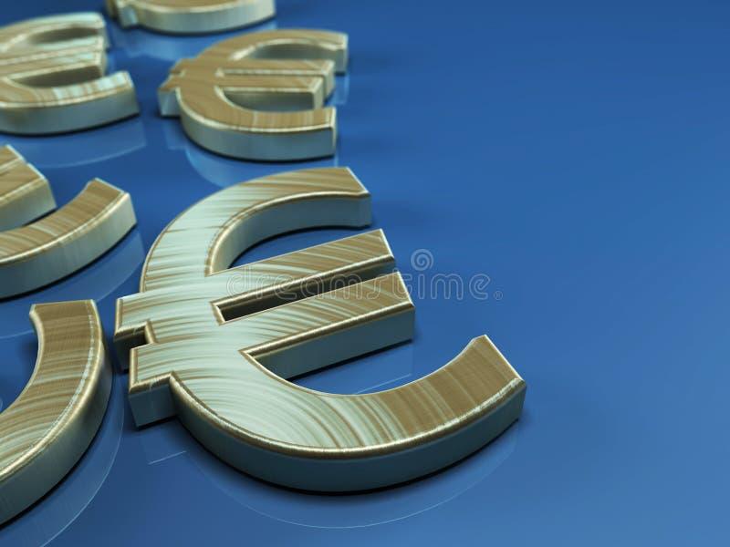för illustrationserie för euro brännhett symbol royaltyfri illustrationer