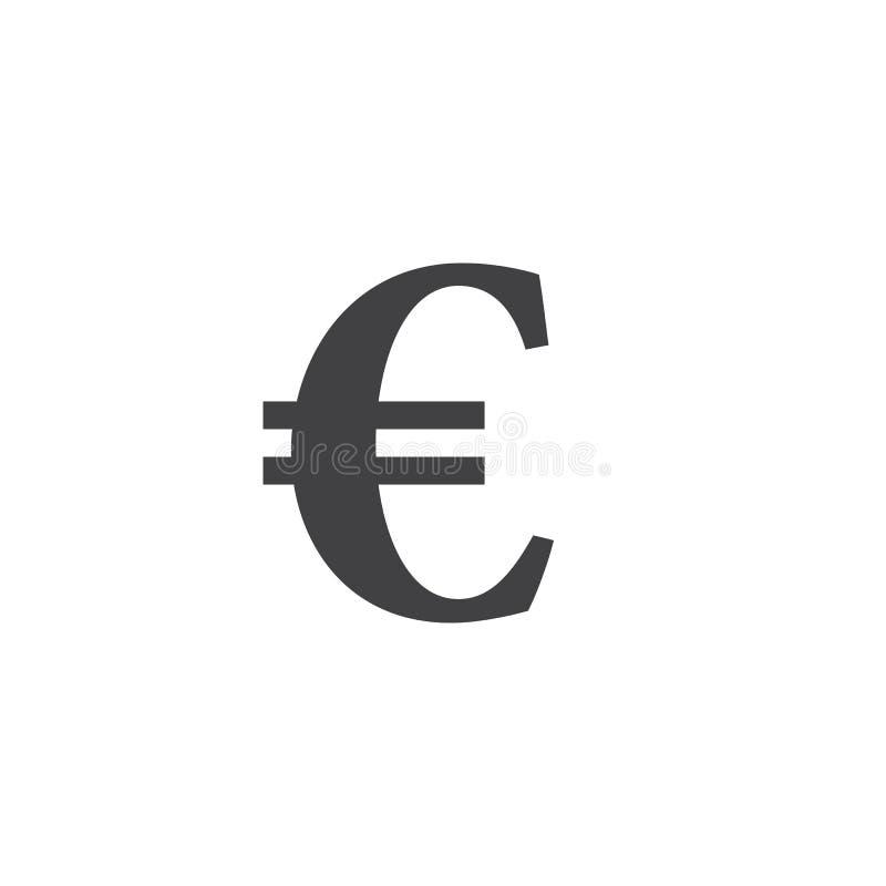 för illustrationserie för euro brännhett symbol underteckna den fasta logoillustrationen, pictogramiso stock illustrationer
