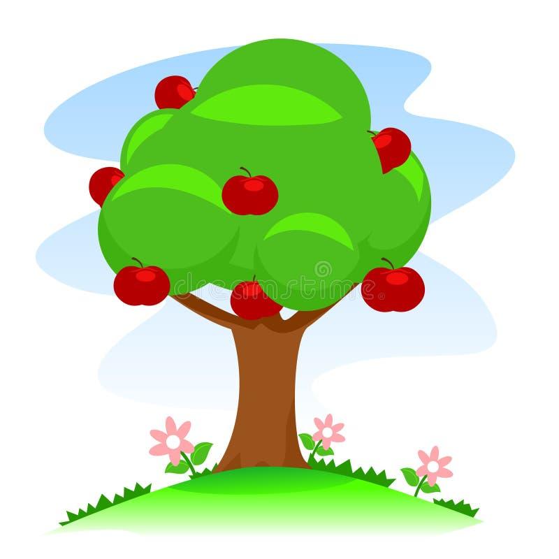 för illustrationtree för äpple härlig vektor stock illustrationer