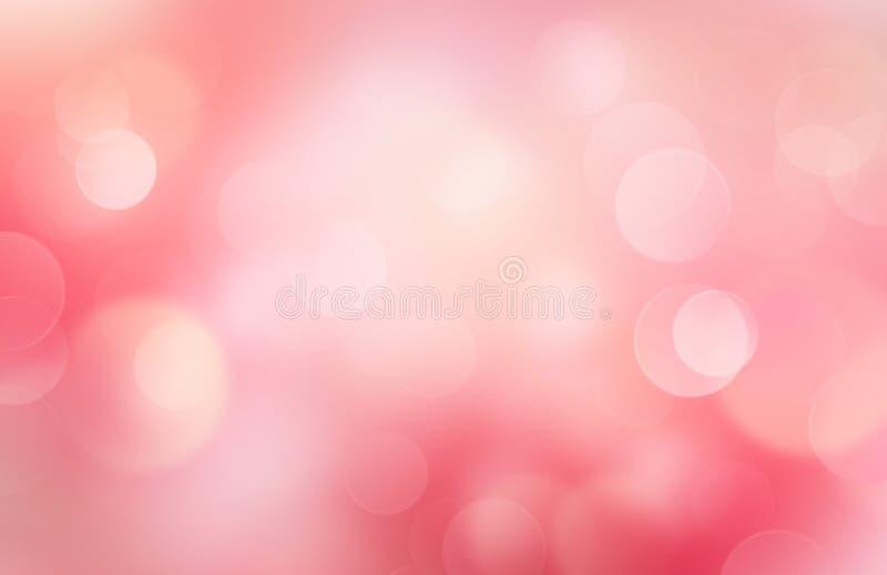för illustrationvalentin för bakgrund härlig vektor Röd rosa mjuk abstrakt bokehsuddighet vektor illustrationer