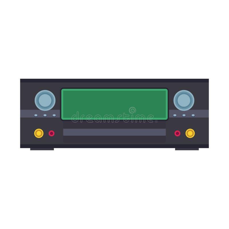 För illustrationvektor för DVD-spelare elektronisk symbol Bio och musik för utrustning för Digital diskettsvart Video rekord- kon vektor illustrationer
