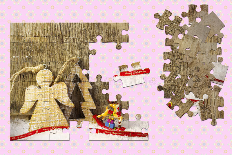 för illustrationvykort för jul eps10 vektor arkivbild