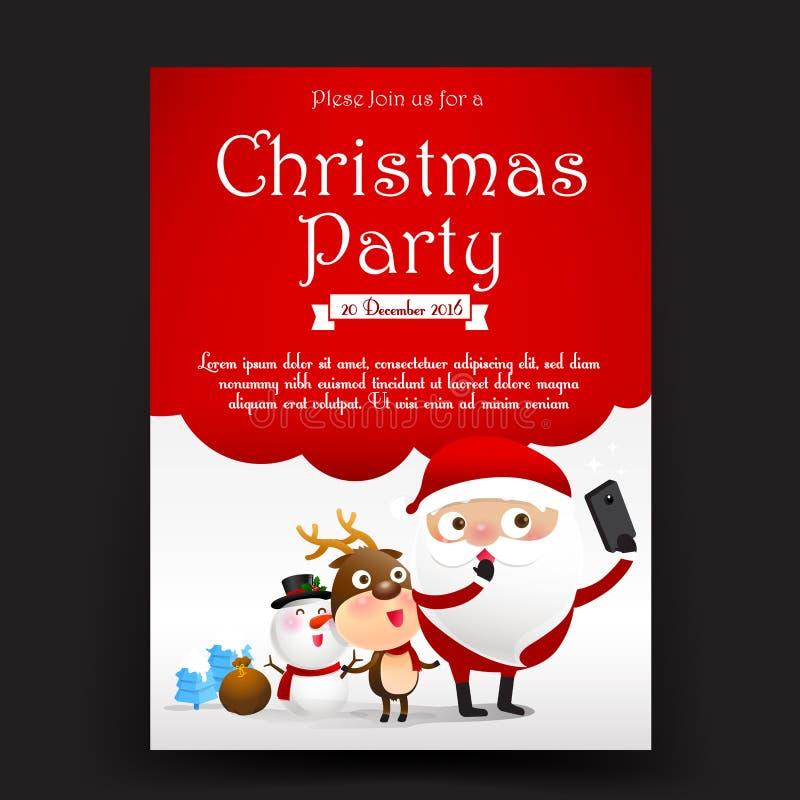 För inbjudankort för glad jul försäljning för befordran för baner för etikett royaltyfri illustrationer