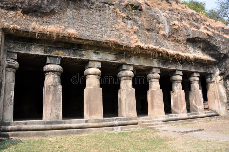 för india för elephanta hinduiskt tempel för mumbai ö royaltyfri bild