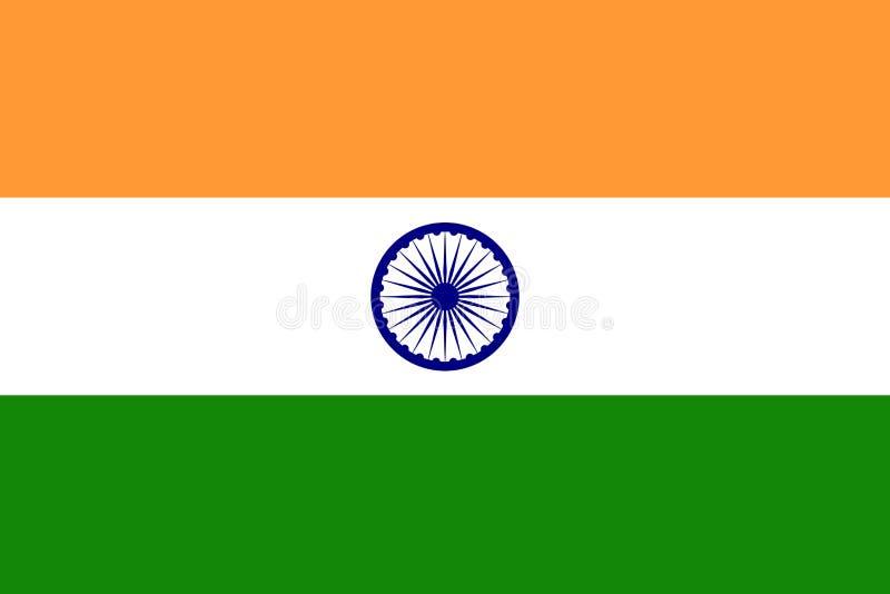 för india för tillgänglig flagga glass vektor stil royaltyfri illustrationer