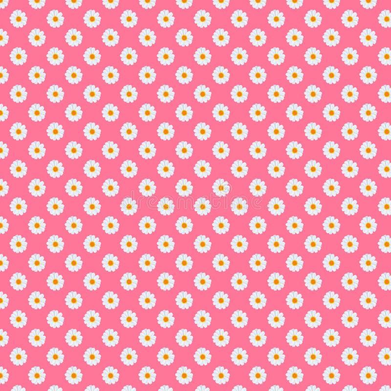 för infalltusenskönor för 5000x5000px 300dpi Digital för bakgrund för modell för fält för tusensköna blom- papper vektor illustrationer