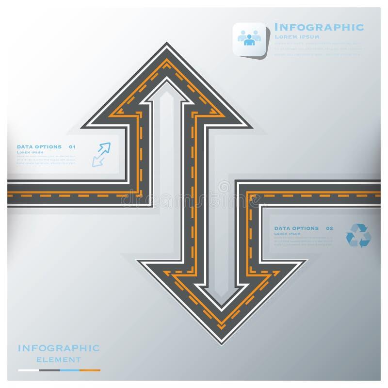 För Infographic för affär för väg- & gatatrafiktecken mall design royaltyfri illustrationer