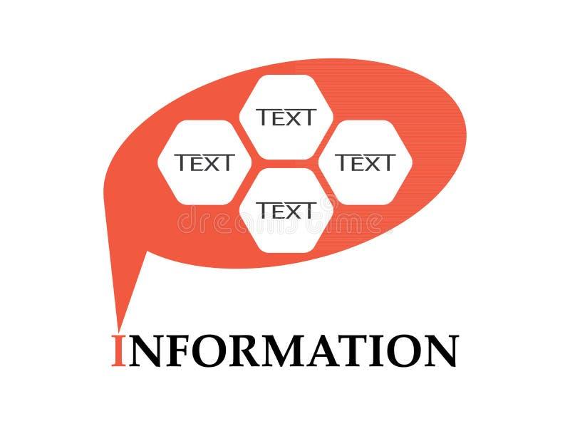 För informationsord om vektor version med stället för meddelande stock illustrationer