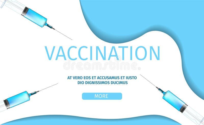 För informationssjukvård om vaccinering baner för begrepp vektor illustrationer