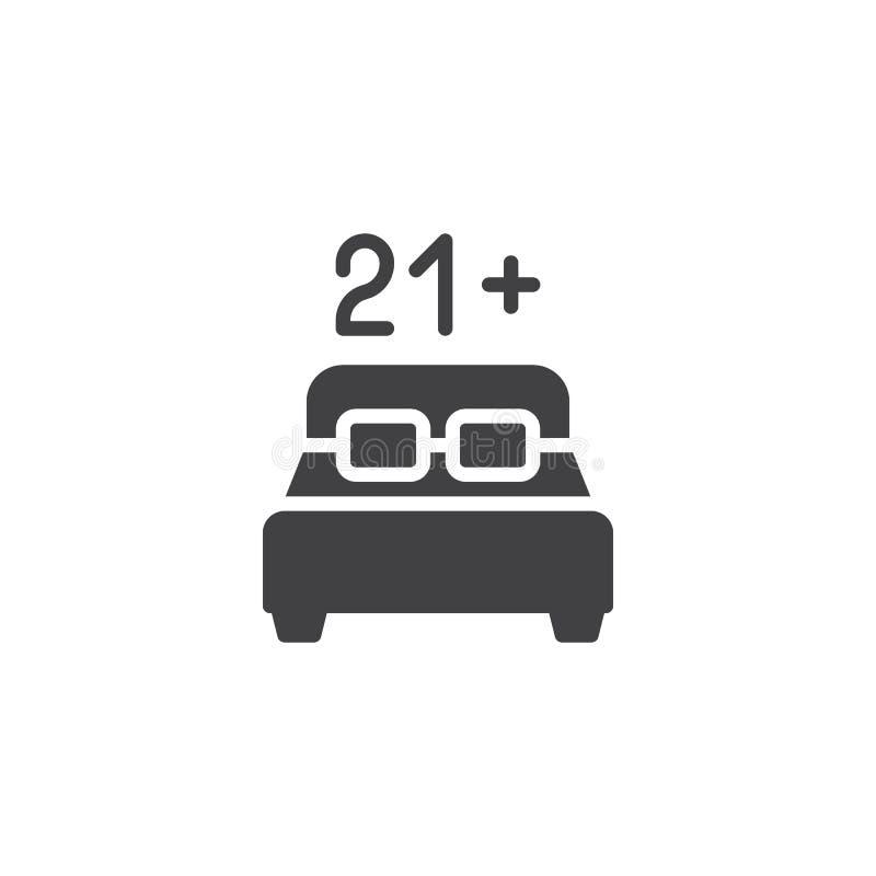 för innehållsvektor för 21 ålder symbol vektor illustrationer