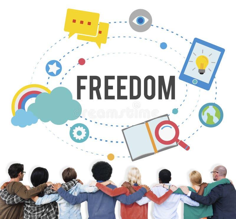 För inspirationfrigivning för frihet fritt begrepp för självständighet royaltyfria bilder
