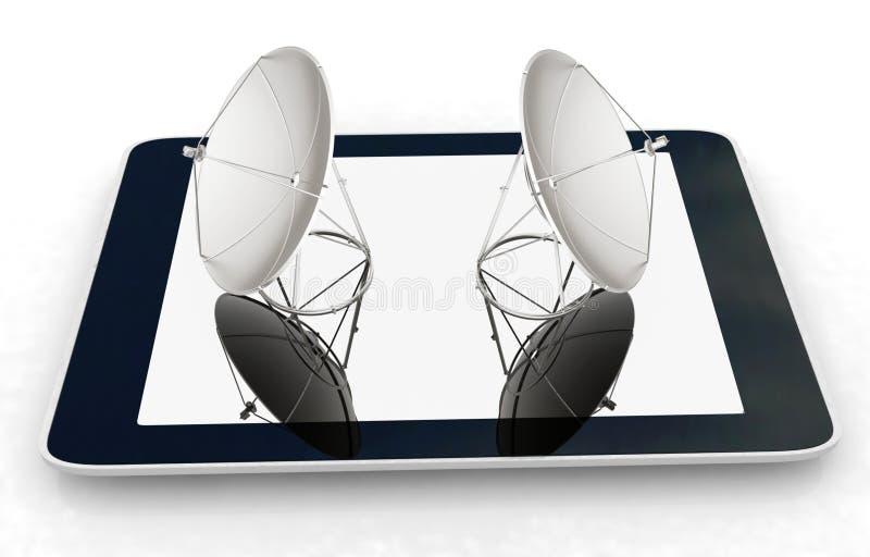 för internetmobil för begrepp hög hastighet stock illustrationer