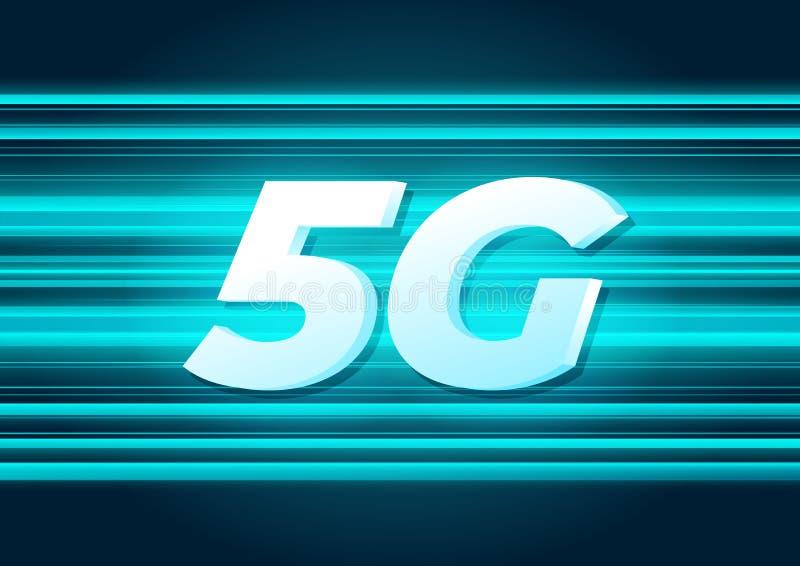 för internetwifi för hastighet 5G ny trådlös anslutning royaltyfri illustrationer