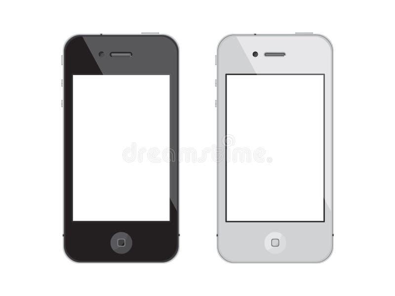 för iphonesmartphone för 4 äpple pekskärm vektor illustrationer