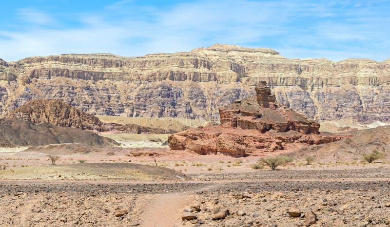 för israel för bildande geologisk timna park royaltyfri fotografi