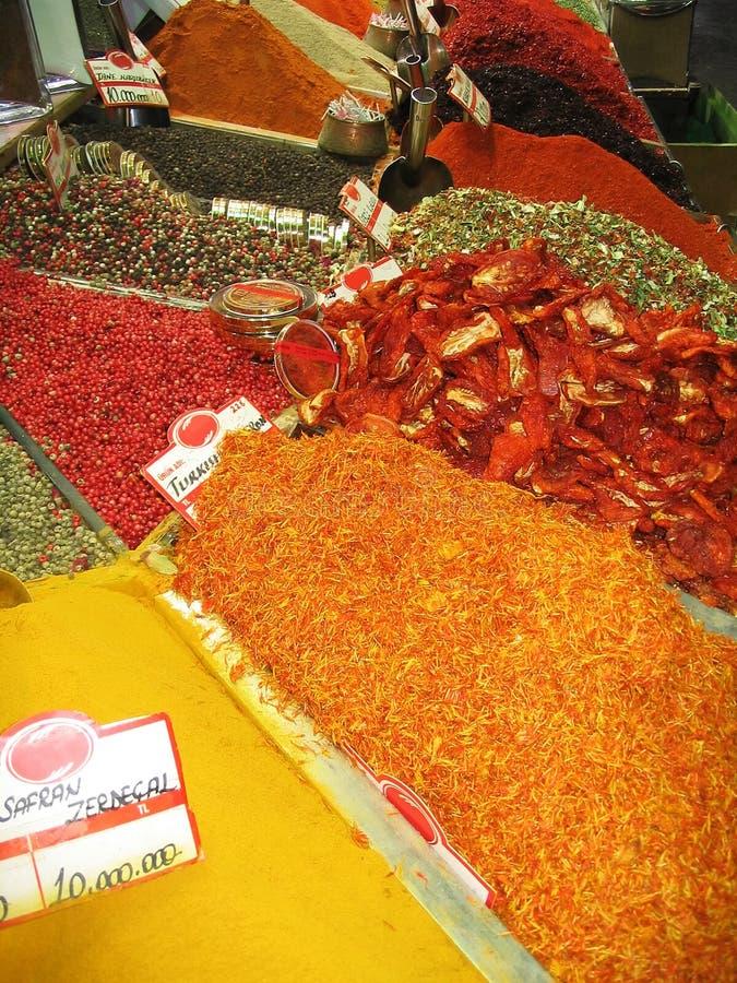 för istanbul för basar egyptisk kalkon krydda arkivbild