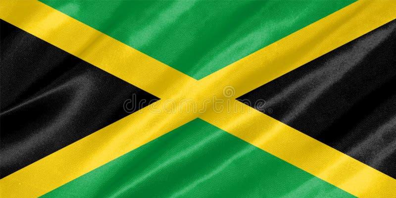 för jamaica för tillgänglig flagga glass vektor stil arkivbild