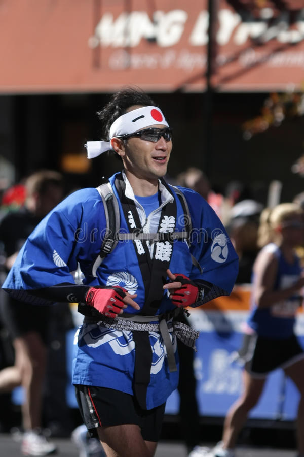 för japan för stadsdatalisting ny löpare york maraton royaltyfri bild
