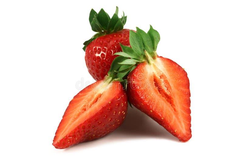 för jordgubbevektor för bakgrund ilustration isolerad white royaltyfria foton
