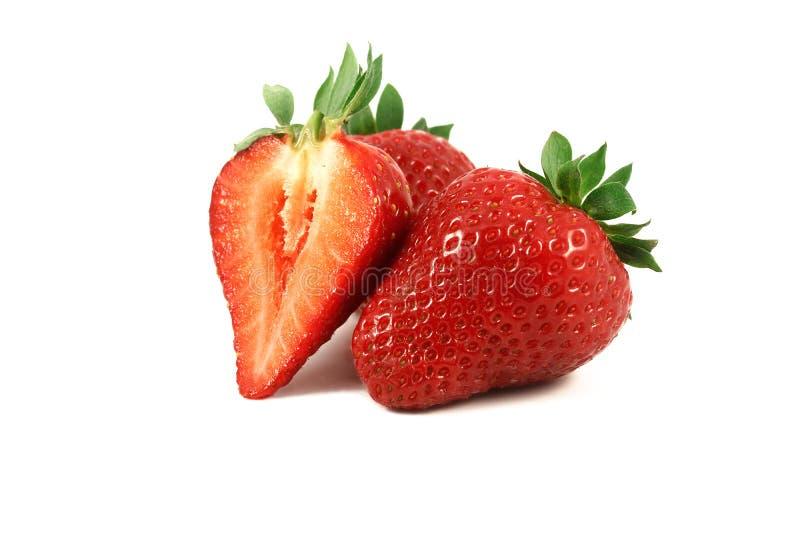 för jordgubbevektor för bakgrund ilustration isolerad white royaltyfria bilder