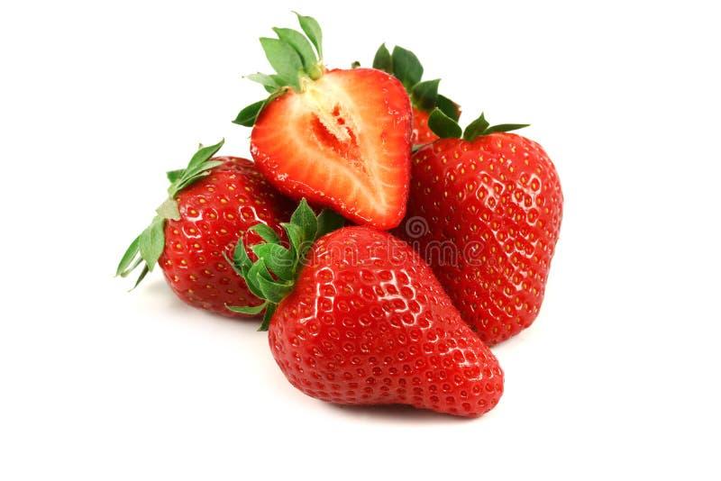 för jordgubbevektor för bakgrund ilustration isolerad white arkivfoton