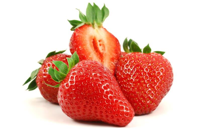 för jordgubbevektor för bakgrund ilustration isolerad white arkivbilder