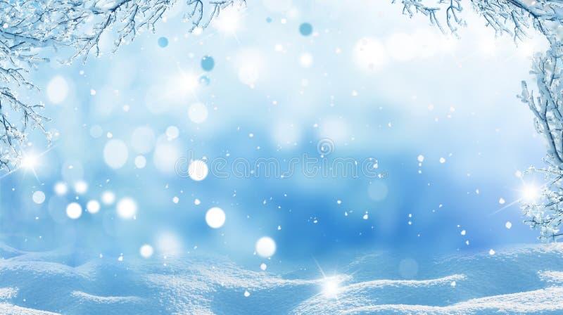 för juloklarheter för bakgrund ser blå lägre för kullar för lutning för flakes för färger sammansättning räknad horisontalmin por royaltyfri fotografi