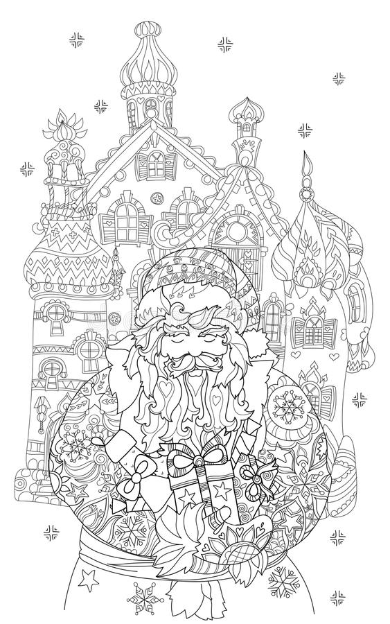 Download För Julsaga För Vektor Gulligt Klotter För Stad Vektor Illustrationer - Illustration av claus, gran: 78725461