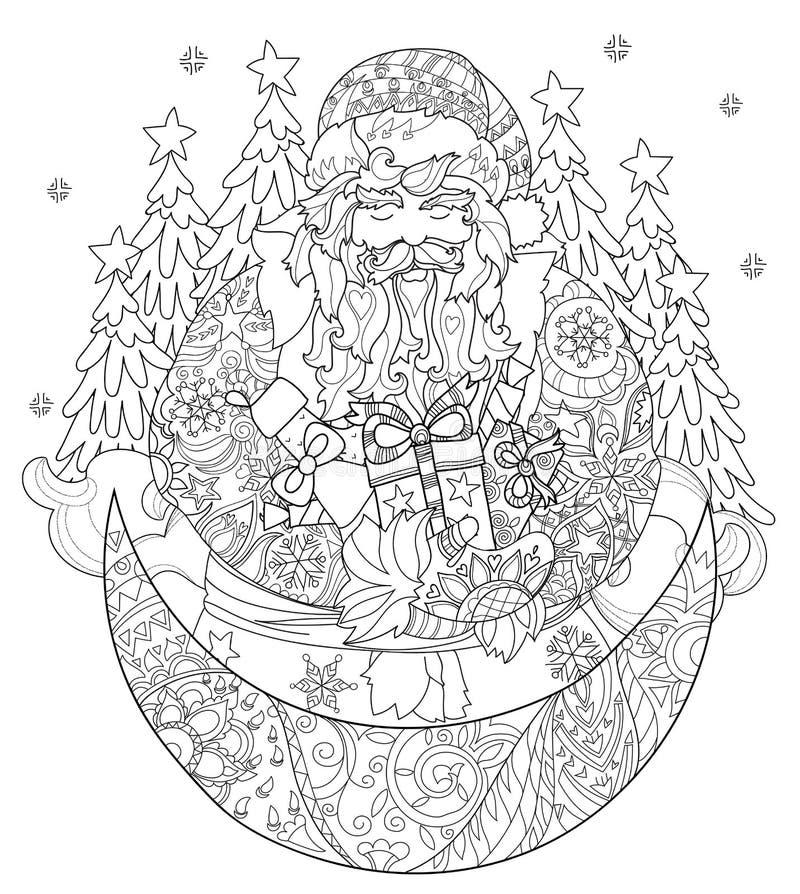 Download För Julsaga För Vektor Gulligt Klotter För Stad Vektor Illustrationer - Illustration av färgläggning, roligt: 78725548
