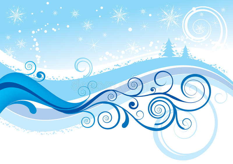för julsnow för bakgrund blåa snowflakes vektor illustrationer
