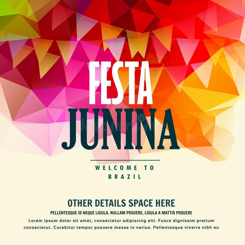 För juni för Festa juninabrasilian färgrik bakgrund festival vektor illustrationer