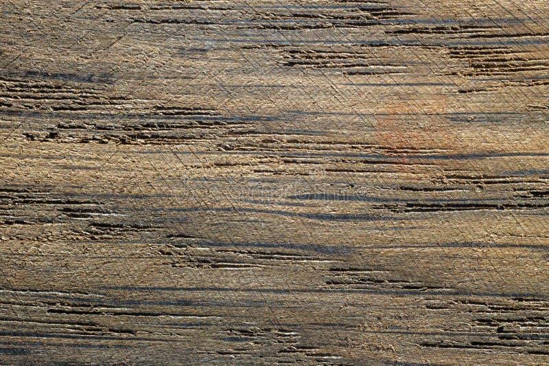 För kökskrivbord för gammal grunge träbitande bräde arkivfoto