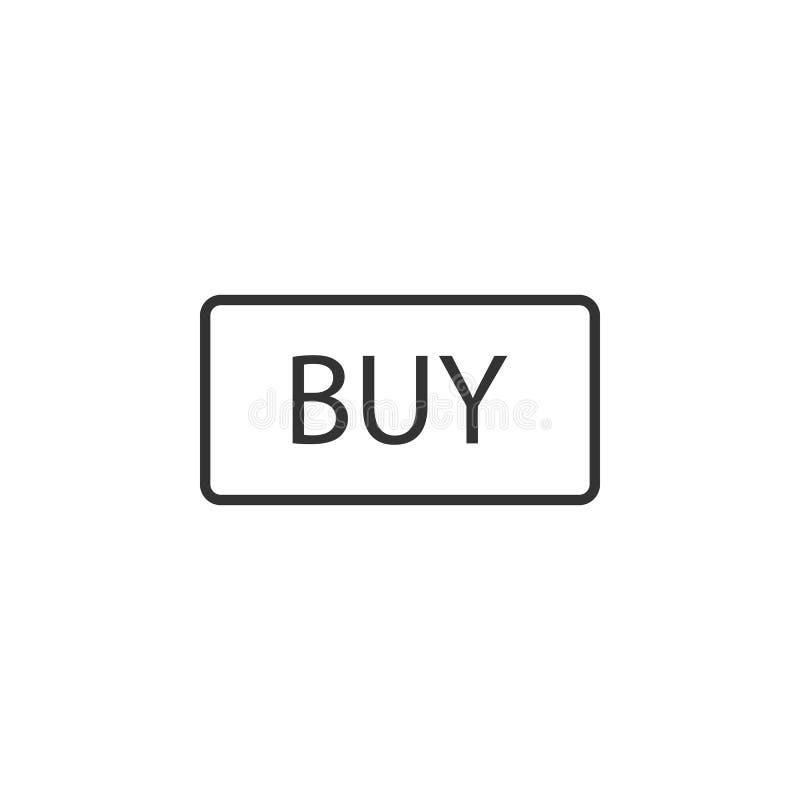 För köp knapp nu, klick, websitebeståndsdel ocks? vektor f?r coreldrawillustration royaltyfri illustrationer